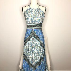 London Times Paisley Maxi Dress in Sz 4